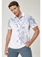 Beymen Business Slim Fit Baskılı Tişört 4B4820200023 Beyaz